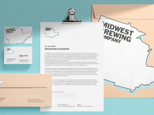 Stationery Branding midwest brewing@2x